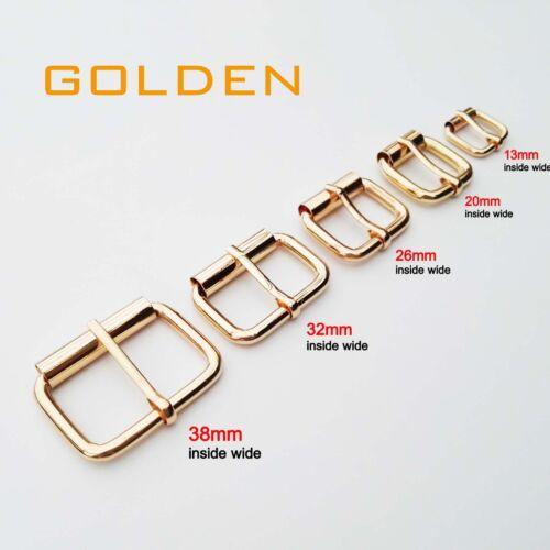 Metal Leather Hand Bag Shoe Strap Belt Rectangle Adjust Roller Pin Buckle Snap