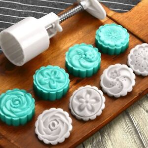 Belt-Pastry-Mold-4-Stamps-Round-50g-MoonCake-Cutter-Hand-Cookie-Pressing