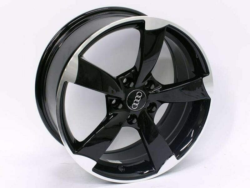 17 MG RS3 Style 5-112 Black Machined Lip Alloy Wheels – 5-112 pcd – 40 offset – CB57.1 – 7.5j width