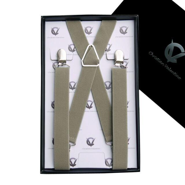 Men's Khaki X2.5cm Extra Large Braces  Mens Suspenders