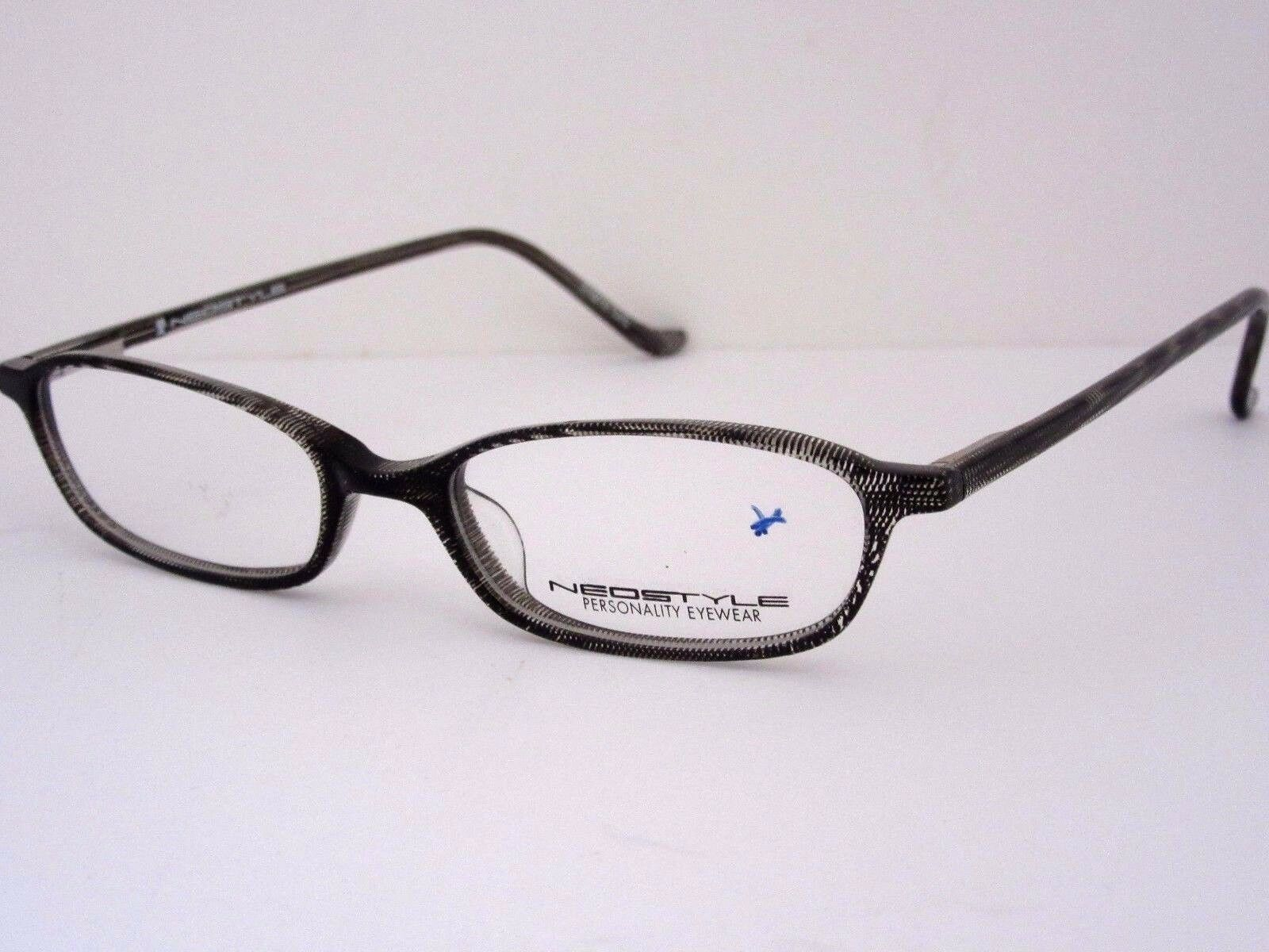 b0e1edd2875 NEOSTYLE College 264 615 Black  Clear Print Eyeglasses Frame Italy ...