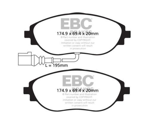 EBC RedStuff Front Brake Pads for Seat Leon Mk3 5F 2.0 Turbo Cupra 290 DP32127C