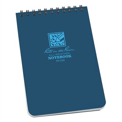 "Rite in the Rain All Weather Waterproof Notepad 4x6/"" Black R-746"