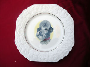 Lovely-Vintage-Lord-Nelson-Pottery-England-Dog-Lovers-Decorator-Plate-c1975