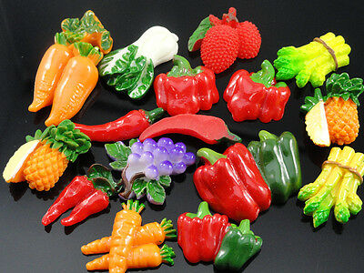 20/100PC mixed vegetables Flat Backed Resin Flatback Button Embellishments