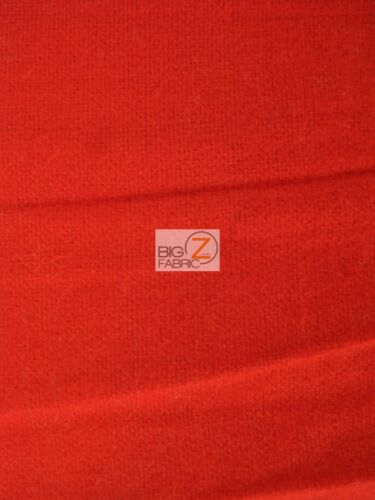 """Red SOLID FLANNEL FABRIC 60/"""" WIDTH SOLD BY THE YARD BABY SOFT"""