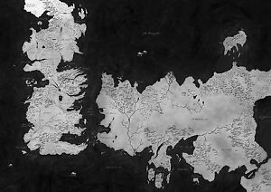 Game of thrones westeros map box canvas art print black white image is loading game of thrones westeros map box canvas art gumiabroncs Gallery