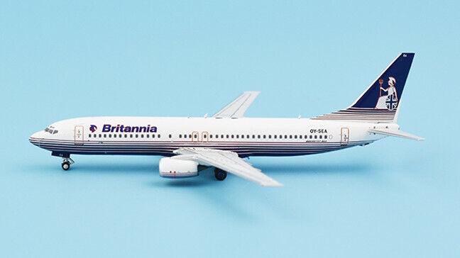 1 400 NG Britannia BOEING 737-800 Passenger Airplane Diecast Aircraft Model