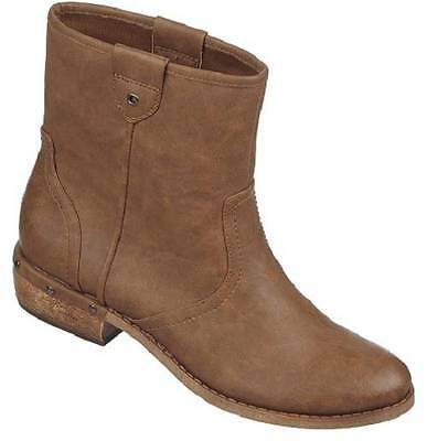 NEW Womens Brown FERGIE MOLLIE  Fashion Shoe Casual Dress Booties Ankle Boots