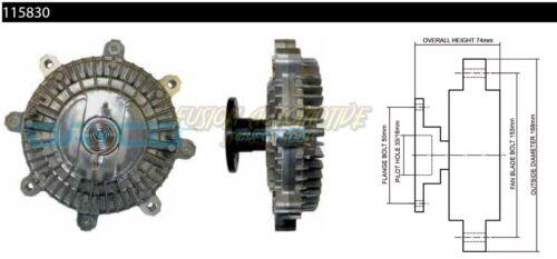Viscous Clutch Fan Hub for Suzuki Grand Vitara 04//98-08//05 2.5L V6