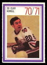 1970-71 ESSO POWER PLAYERS NHL #20 CLIFF KOROLL EX-NM BLACK HAWKS UNUSED STAMP