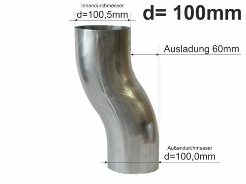 Zink Fallrohr Sockelknie Sockelwinkel Etagenbogen d=100mm