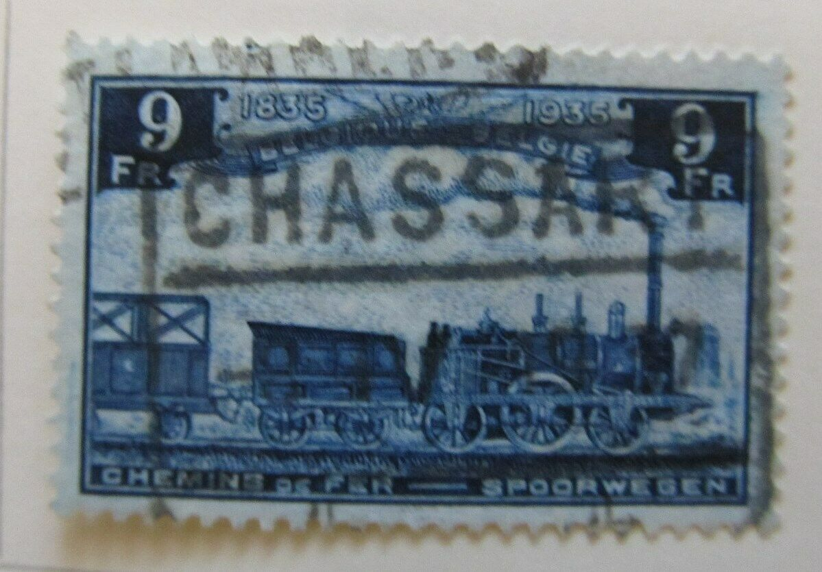 A6P18F155 Belgium Parcel Post and Railway Stamp 1935 9fr used