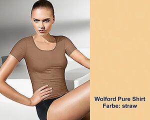Wolford-Pure-Shirt-S-straw-strohgelb-liegt-besonders-duenn-und-glatt-auf