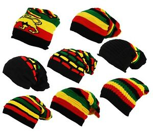 2f2fea06d Details about ITZU Co.Rasta Oversize Slouch Pull On Striped Lion of Judah  Beanie Cap Hat