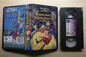 disney the hunchback of notre dame ii vhs video