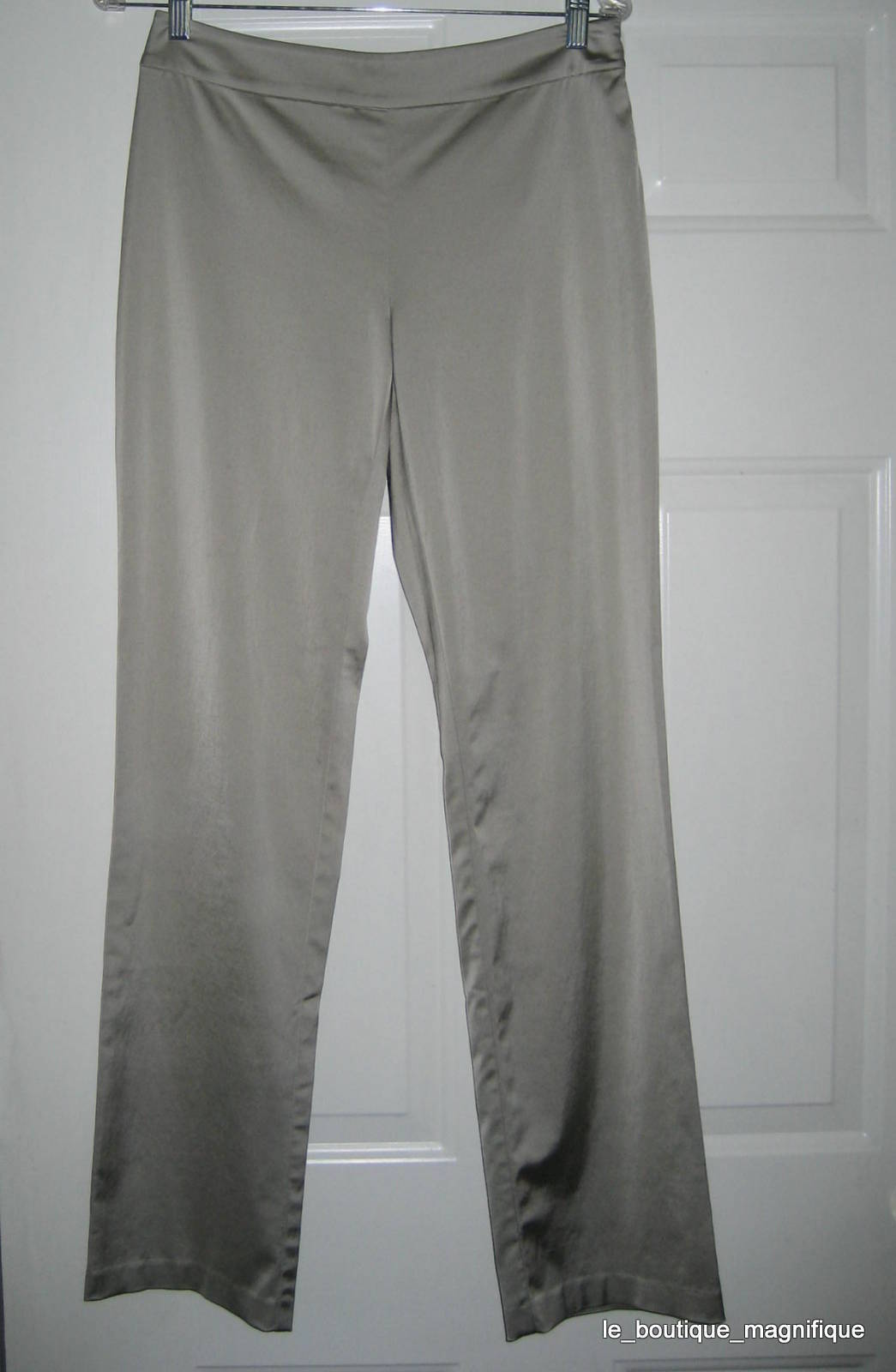 EILEEN FISHER CHAMPAGNE SATIN STRETCH PANTS XS NWT  238 FABULOUS