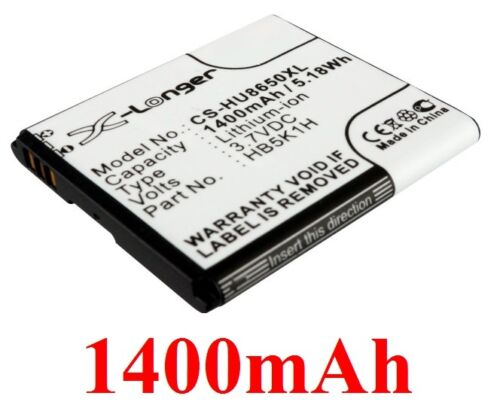 Battery 1400mAh type HB5K1H For Huawei U8651S