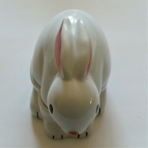 Jobar International Cotton Ball & Swab Dispenser Porcelain Ceramic Bunny Rabbit