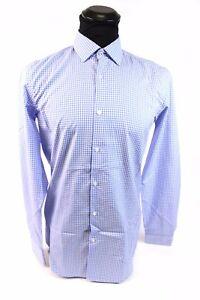 online store 844d4 52f94 Details zu HUGO BOSS Herren Hemd Blau Kariert Größe 38 Slim Fit Business  Freizeit Top Zust.