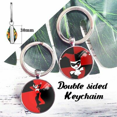 Harley Quinn Suicide Squad Double Sided Keychain Key Ring Pendant Key Chains