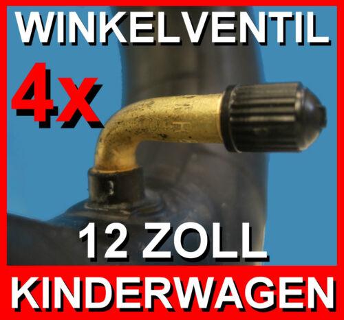 mit Winkelventil 4x Schlauch 12 1//2 x 2 1//4 Zoll für Kinderwagen,Roller,Buggy