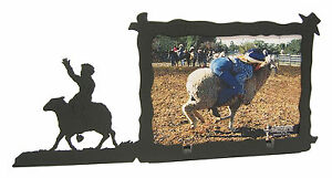 Sheep-Riding-Rodeo-Picture-Frame-3-5-034-x5-034-3-034-x5-034-H-Mutton-Busting