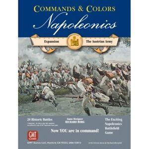 Commandes et couleurs Napoleonics Expansion Le jeu de plateau de l'armée autrichienne