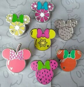 Minnie-Mouse-Fruit-Icons-2017-Hidden-Mickey-Set-DLR-Choose-a-Disney-Pin