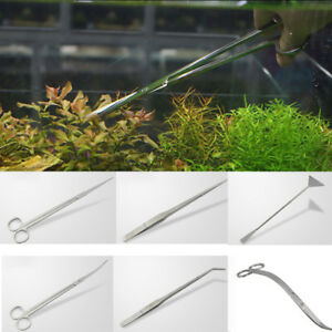 Aquarium-Maintenance-Kit-Tweezers-Curved-Scissor-Fish-Tank-Shovel-Cleaning-Tool