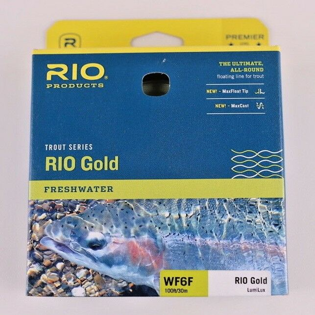 Rio gold  Lumalux Fly Line WF6F GLOWS IN THE DARK Free Fast Shipping 6-21212  2018 store