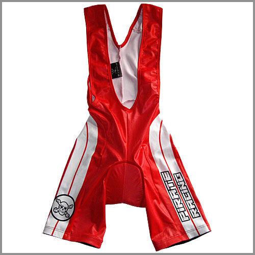 Pirate Skins Retro rosso con spalline, Bicicletta Pantaloni, SKULL, pirata, Gothic,