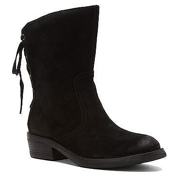 NEW Women's Nine West  Krasher  - WAS  139  -size 6 Black suede ankle boot, 1.5