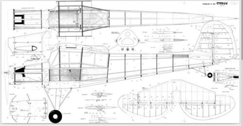 95 inch Fleseler FI 156 Storch   Giant Scale RC AIrplane Printed Plans