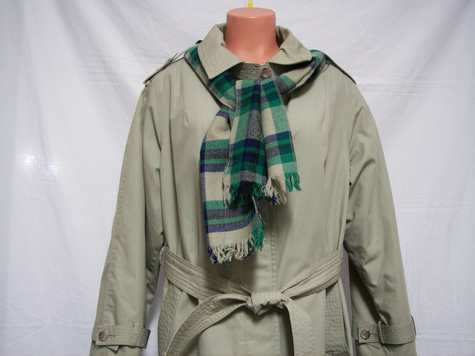 Womens Coat Size Trench A6 (14-16)  Bryant Park Full Length Zip Out Lining