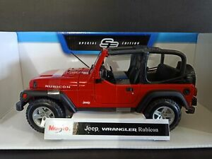 Maisto-Die-Cast-Special-Edition-1-18-Jeep-Wrangler-Rubicon-Red-Collectible-To
