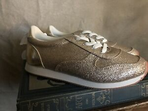 NEW Girls Gold Sparkle Sneakers