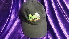 SEA WITCH - WICKED , WILD & WONDERFUL - THE Black HAT BASEBALL CAP by Adams !!!!