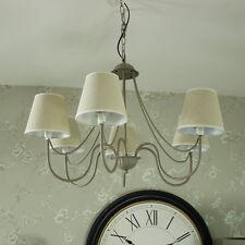 Large Grigio 6 Braccio Lampadario pendente Luce Montaggio shabby chic vintage illuminazione