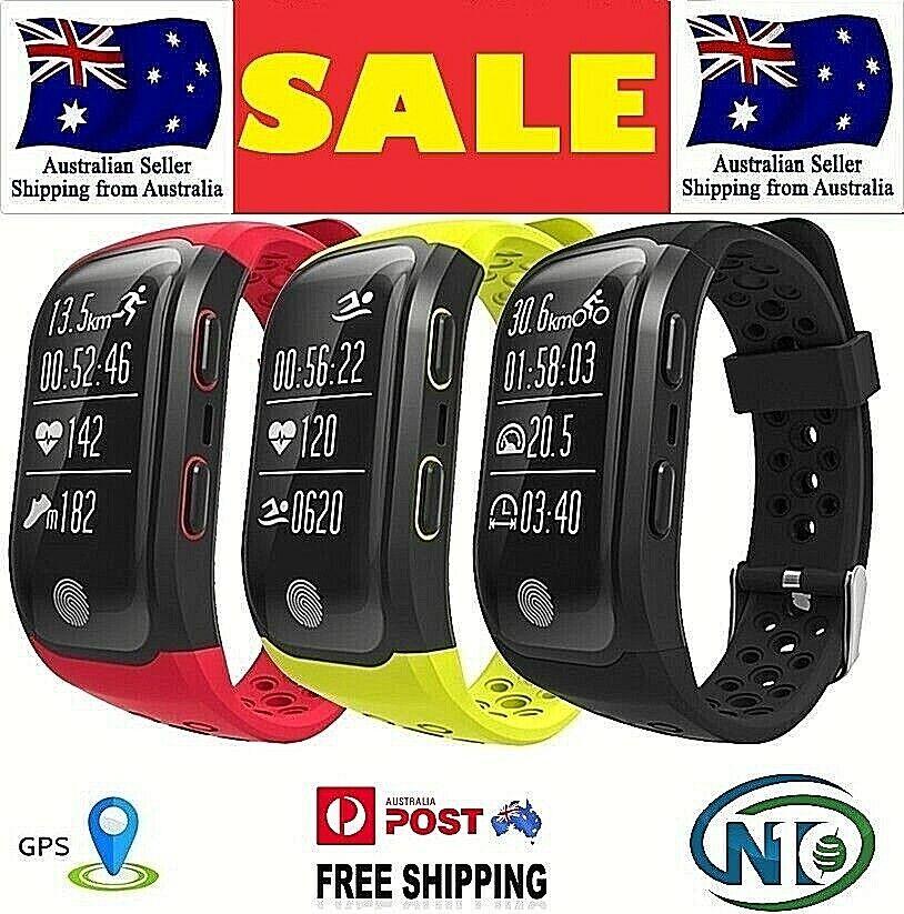 Fitness de actividad Color Impermeable GPS Reloj Inteligente de Deportes S908 que ejecuta HR BT