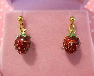Strawberry-Earrings-2-Gold-Handmade