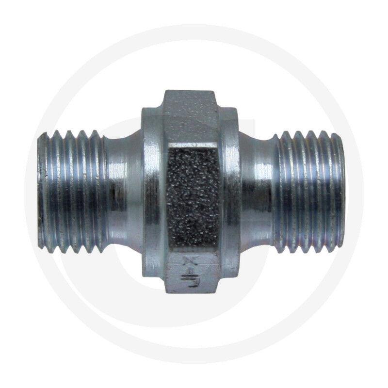 Hydraulique _ Raccord _ _ _ GA 1/8 M-PNB x 1/2 M-BSP _ Double Mamelon _ Adapter _ Tracteur 7c5f50