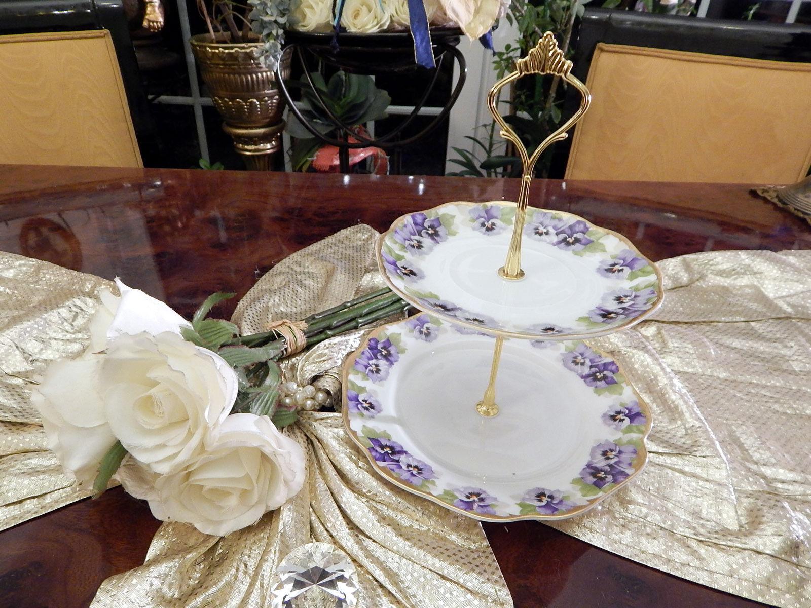Magnifique etagere table dissertation 2 niveaux rosenthal viktoria Luise très rare