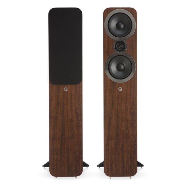 Q Acoustics 3050i Floorstanding Speaker Pair (English Walnut)