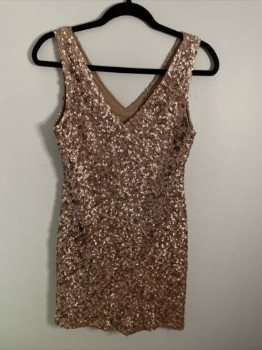 Romeo & Juliet Couture Mini Dress Sequin Party We… - image 1