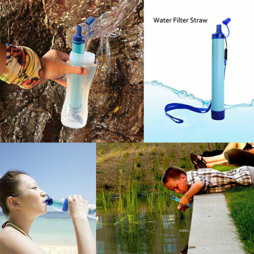 Purificador de Agua al Aire Libre Camping Senderismo Emergencia Supervivencia