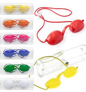 OCCHIALINI-Protettivi-PROTEZIONE-Occhi-LAMPADA-Solarium-SOLE-Raggi-UV-Occhiali