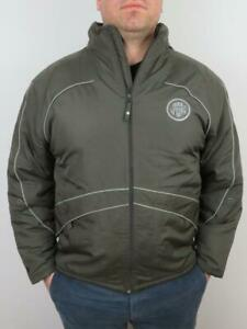 Umbro-Insulated-Jacket-Mens-XL-Windbreaker-Brown-Pro-Training-Soccer-Coat-Puffer