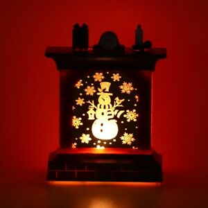 Fireplace-Lamp-LED-Lantern-Night-Light-Christmas-Snowman-Santa-Claus-Party-Decor
