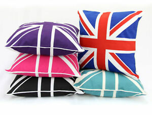 Union-Jack-100-algodon-Cushion-Covers-sofa-casos-Sofa-Almohada-18-034-x18-034-borde-por-departamento